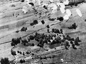 USAAF B-17 Flying Fortresses drop supplies to the Maquis in the Vercors.