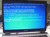 BSOD Stop 0x00000024 Ntfs.sys - Andrew's laptop