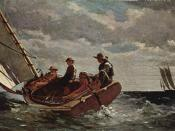 Breezing Up (A Fair Wind), 1873–76, oil on canvas (National Gallery of Art, Washington, D.C.) Breezing Up at the National Gallery of Art