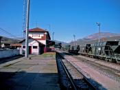 Español: Estación de FEVE de Guardo, Palencia (España).