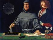 Luca Pacioli, here in a 1495 portrait by an unknown Renaissance artist, wrote on accounting ethics in 1494.