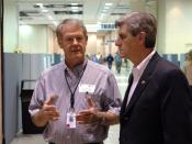 English: Biloxi, Miss., March 2, 2006 -- State Auditor Phil Bryant (right) is welcomed by FEMA representative Glenn Woodard to the Joint Field Office (JFO) for a brief tour and visit. Mr. Bryant is in Biloxi for a national auditors conference. Mark Wolfe/