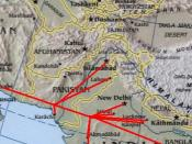English: Modified :Image:Sino-Indian Geography.png, created and published by the Central Intelligence Agency of the United States of America in 2004. The modified version was released by Deepak Gupta under Public Domain. فارسی: برگرفته از ویکی پدیای انگلی
