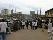 English: Market scene in Ibadan