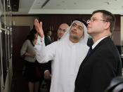 Valdis Dombrovskis apmeklē kompāniju DP World