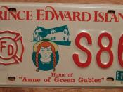 PRINCE EDWARD ISLAND 1997 FIRE DEPARTMENT plate