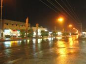 Rain in Muzahimiyah, Saudi Arabia
