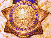 English: Photograph of a California Highway Patrol badge.