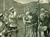 Le siège de Port Arthur Parlementaires japonais venant négocier une suspension d'armes afin de pouvoir à l'ensevellisement des morts