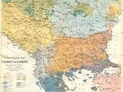 Ernst Ravenstein's Ethnographical Map of Turkey in Europe