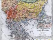 Ethnic composition map of the Balkans by A. Synvet, a French professor of the Ottoman Lyceum of Constantinople, 1877.