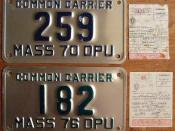 MASSACHUSETTS, COMMON CARRIER plates 1970 and 1976 ---WITH REGISTRATION PAPERS