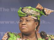 Ngozi Okonjo-Iweala (Finance Minister of Nigeria, 2003-2006; Managing Director of the World Bank, December 2007-present of May 2010), at the 2004 Spring Meetings of the International Monetary Fund and the World Bank Group.