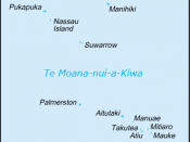 Map of Cook Islands (in New Zealand Māori)
