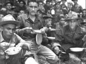 Soldiers of the 65th Infantry training in Salinas, Puerto Rico, August 1941