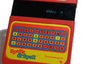 Texas Instruments Speak & Spell using a TMC0280 speech synthesizer.