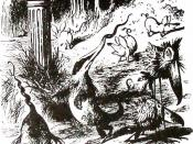 Illustration on the poem Jabberwocky
