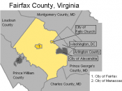 Map of Fairfax County and neighboring jurisdictions