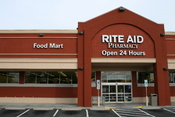English: A 24-hour Rite Aid Pharmacy at 200 North Lasalle Street in Durham, North Carolina.