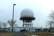 English: Federal Avation Administration Joint Surveillance Site radar, near Geddes Road, Canton, Michigan