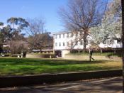 English: Australian National University College of Law, Canberra Australia.