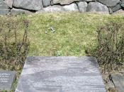 English: Picture of August Brunius and Celie Brunius grave at Lidingö kyrkogård Svenska: Foto av August Brunius och Celie Brunius gravvård på Lidingö kyrkogård