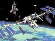 English: Space Station Freedom (proposed rendition)