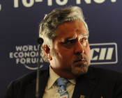 English: Vijay Mallya, Chairman, UB Group, India, participates in a panel discussion on tourism at the World Economic Forum's India Economic Summit 2008 in New Delhi, 16-18 November 2008.