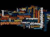Word Cloud of Gov. Jindal's GOP response to Obama's speech