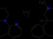 English: chemical structure of psychoactive drug mirtazapine