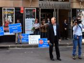 ABC News at the stage door waiting for the cowering AGL Chairman