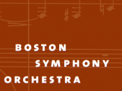 The logo of the Boston Symphony Orchestra.