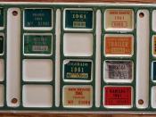 1961 TRUCKER'S BINGO BOARD PLATE for SEMI TRAILERS