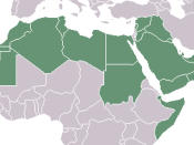 a map of the Arab World