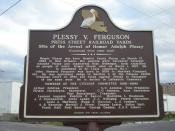 English: Plessy v Ferguson plaque, Press Street, New Orleans. side two.