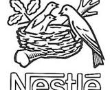 English: The Nestlé Logo. Deutsch: Das Nestle Logo.