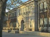 Brown v. Board of Education National Historic Site, Topeka, Kansas, USA - Monroe Elementary school, where racial segregation was challenged in 1954