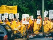 Demonstration for religious freedom