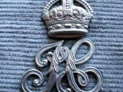 BADGE - Scotland - Inverness-shire Constabulary epaulette badge (with Kings Crown)