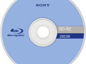 English: Front side of a 200GB Blu-ray Disc