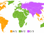 English: Regions of the world for the Blu-ray standard.
