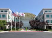 English: Apple's headquarters at Infinite Loop in Cupertino, California, USA.