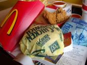 English: I had a hearty meal at McDonald's while holidaying in Bangkok, Thailand.