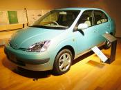 Toyota Prius, a hybrid vehicle. Museum of Toyota of Aichi Prefecture, Japan.