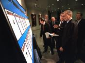 911: President George W. Bush at Federal Bureau of Investigation (FBI) Headquarters, 10/10/2001.