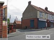 SR7 66: GR wallbox, Deneside Post Office, Seaham