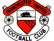 Club crest of Manchester United F.C. in the 1960s, as seen in official club documents such as this 1968 match programme