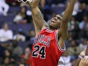 English: Tyrus Thomas playing with the Chicago Bulls