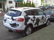 Ford KugaTDCi, Gen1 (from 2008), BEN & JERRY´S promotion, seen in Duesseldorf, Germany