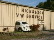 English: Hicks & Son VW Service specialises in classic Volkswagen vehicles. It is located at 3301 Angier Avenue in Durham, North Carolina.